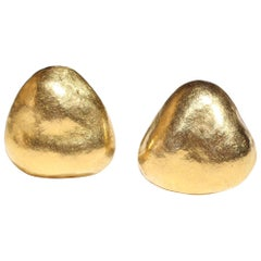 Julius Cohen 24-Karat Gold Nugget Earrings