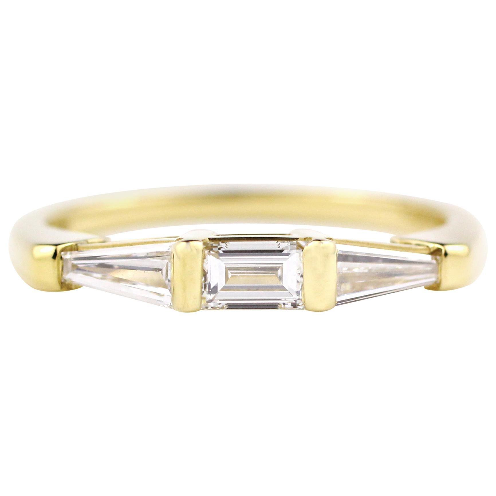 Julius Cohen Diamond Baguette Ring
