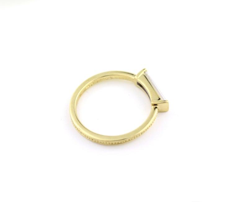 Contemporary Julius Cohen Diamond Bar Ring