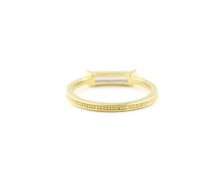 Baguette Cut Julius Cohen Diamond Bar Ring