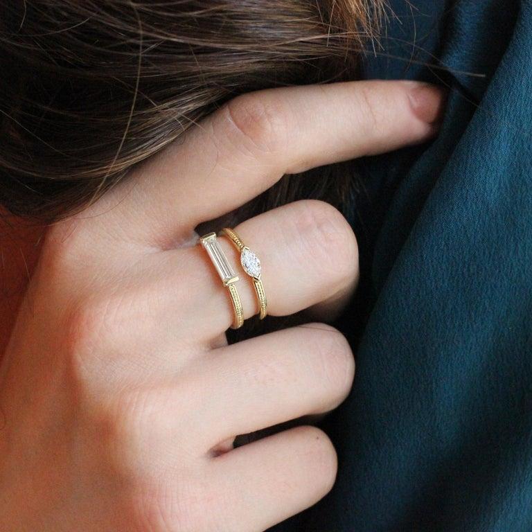 Women's or Men's Julius Cohen Diamond Bar Ring