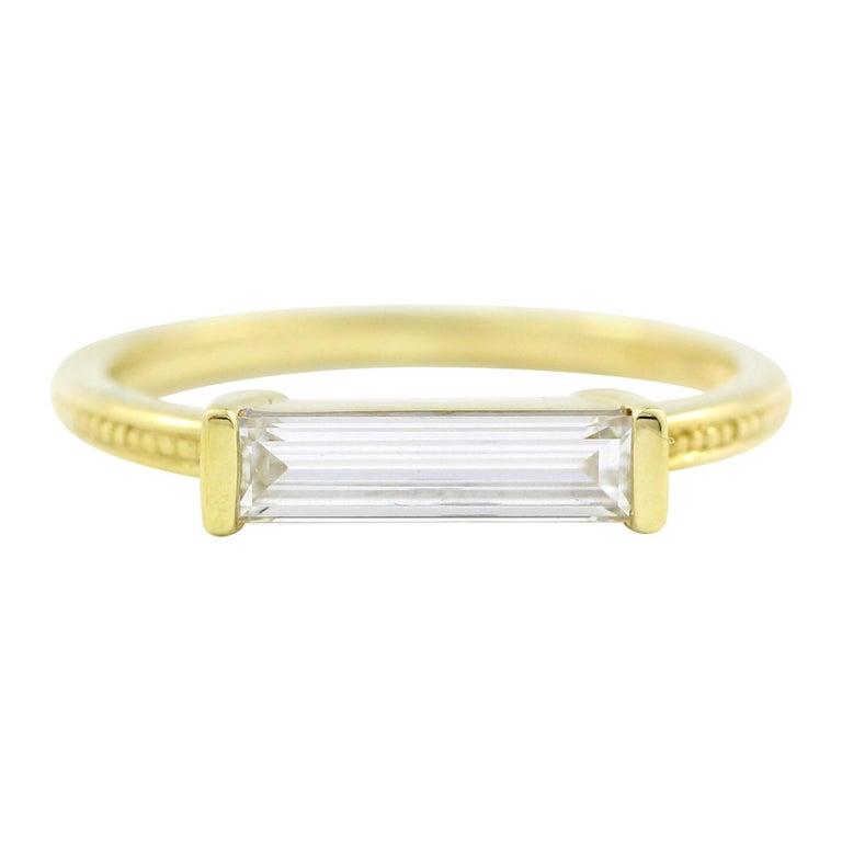 Julius Cohen Diamond Bar Ring