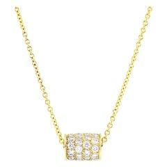Julius Cohen Diamond Barrel Pendant Necklace