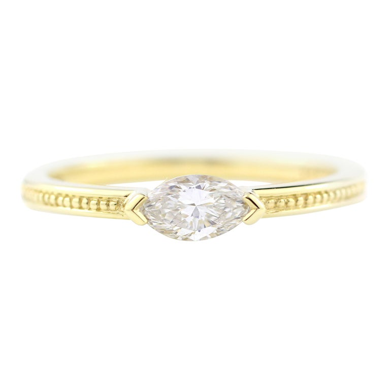 Julius Cohen Diamond Eye Ring For Sale