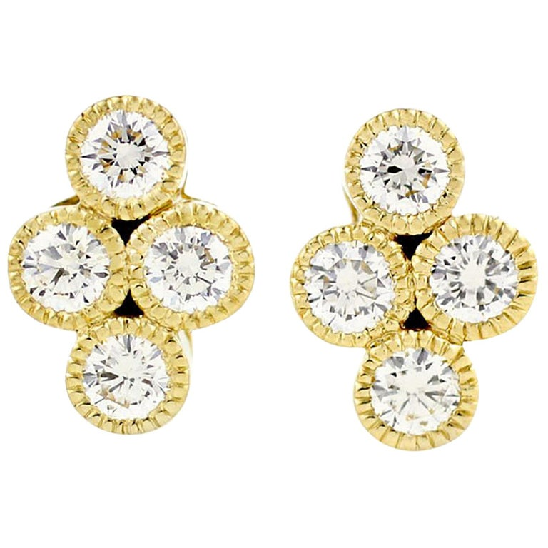 Julius Cohen Diamond Town Earrings For Sale