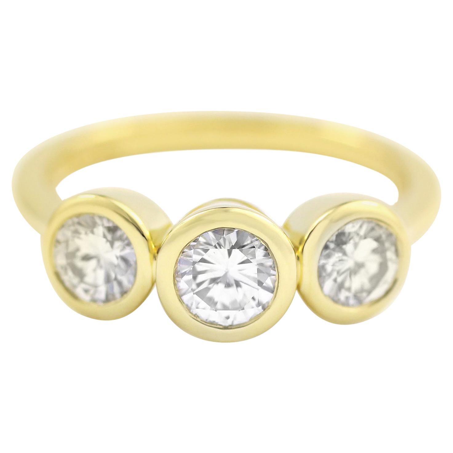 Julius Cohen Diamond Trio Ring