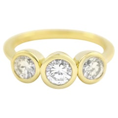 Julius Cohen Diamond Trio Ring