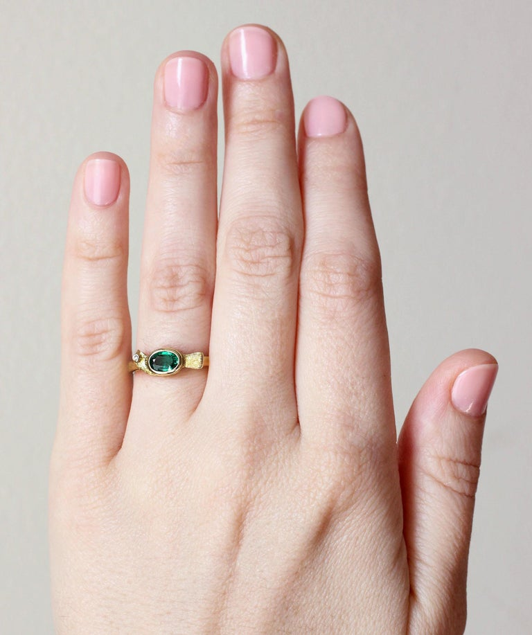 Oval Cut Julius Cohen Emerald Bird Ring