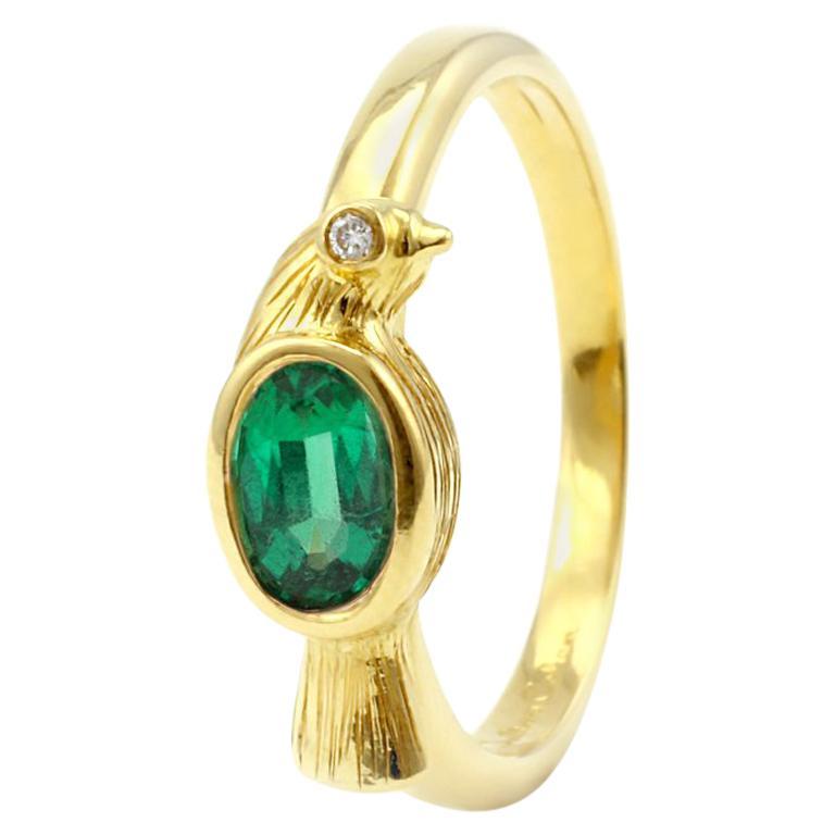 Julius Cohen Emerald Bird Ring