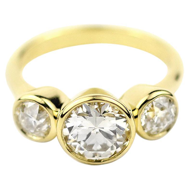 Julius Cohen GIA Certified Triple Diamond Ring