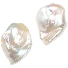 Julius Cohen Keshi Pearl Earrings