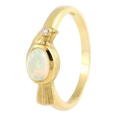 Julius Cohen Opal Bird Ring in 22 Karat Gold