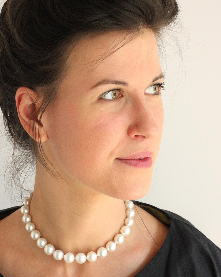Julius Cohen South Sea Cultured Pearl Necklace In New Condition For Sale In Brooklyn, NY
