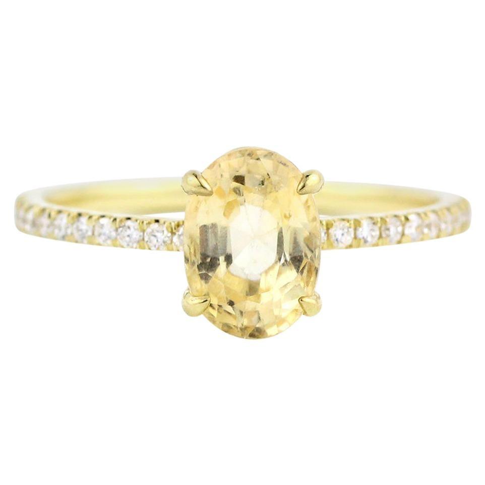 Julius Cohen Yellow Sapphire Ring