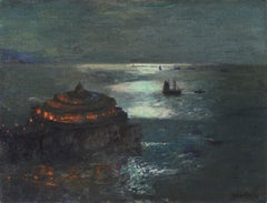 """""""The Pier, Plymouth - by Moonlight"""""""