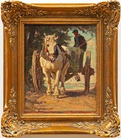 """""""Horse Drawn Carriage"""" Julius Paul Junghanns (German, 1876-1958)"""
