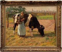 """Summer in the Pasture"" Julius Paul Junghanns (1876-1958)"