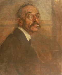 'Self-Portrait', Paris Salon, Royal Danish Academy, Impressionist oil, Benezit