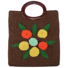 Julius Resnick Floral Tote Style Handbag, 1960's