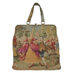 Julius Resnick Large Tapestry Handbag 1950s