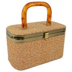 Julius Resnick Tweed Box Handbag, 1960's