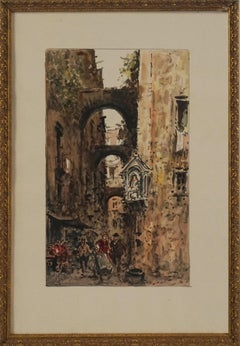 Mid Century Paris Street Scene