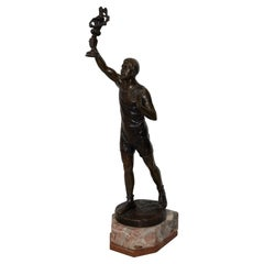Julius Schmidt-Felling Olympic Torch Bearer Bronze Sculpture, circa 1910