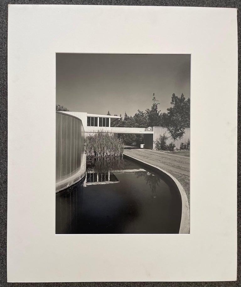 Mid-Century Modern Julius Schulman Signed Black & White Photograph, Von Sternberg House For Sale