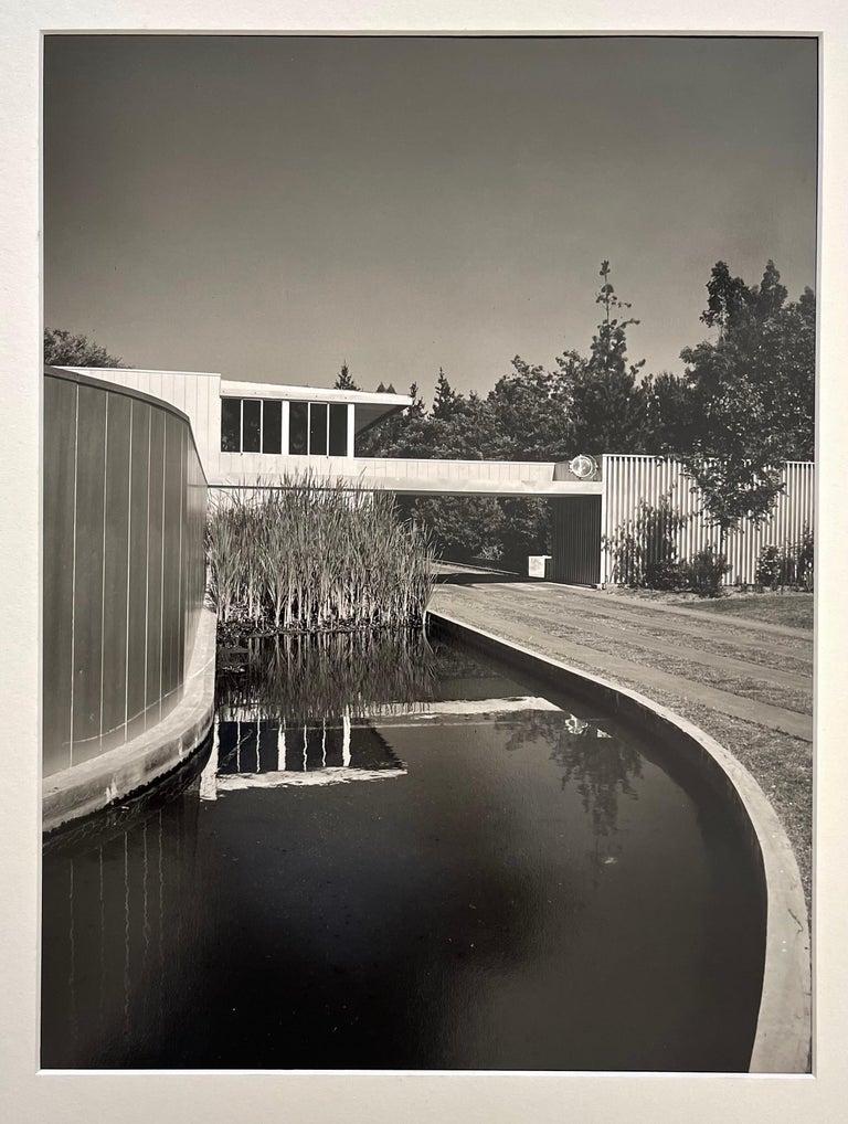 Paper Julius Schulman Signed Black & White Photograph, Von Sternberg House For Sale
