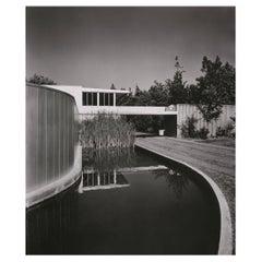 Julius Schulman Signed Black & White Photograph, Von Sternberg House