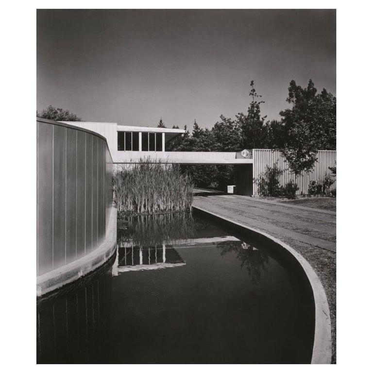 Julius Schulman Signed Black & White Photograph, Von Sternberg House For Sale