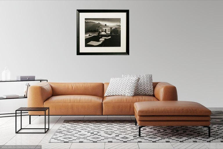 This 1947 Julius Shulman (1910-2009, American) print of the Kaufmann House Palms Springs, and is hand-signed by Julius Shulman and is edition #25 of 250. This was given by Julius Shulman himself to the California Heritage Museum in Santa Monica in
