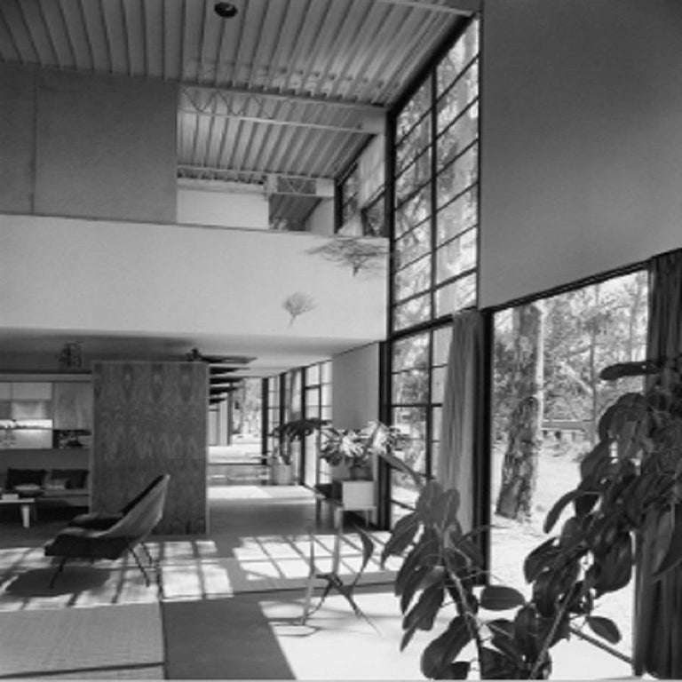 """Julius Shulman Black and White Photograph - """"Charles Eames Residence. Pacific Palisades, Cal. Case Study House # 8  C. Eames"""