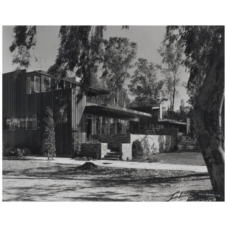 Julius Shulman Sokol House by Richard Neutra Silverlake California Modern, 1948 For Sale