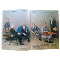 July 1961 Playboy Magazine f/t Masters of Midcentury Design Eames Saarinen
