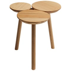 July Stool-Table in Oak by Nao Tamura