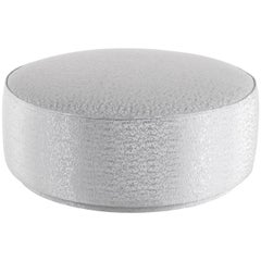 Jumbo Collection Andromeda Large Pouf in Wood and Fabric