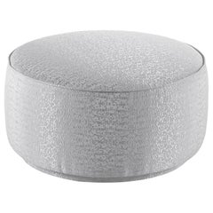 Jumbo Collection Andromeda Small Pouf in Wood and Fabric