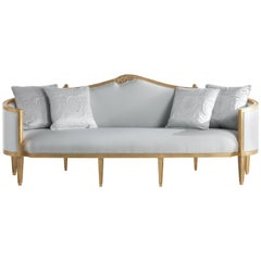 Jumbo Collection Annecy Sofa in Wood and Fabric