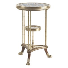 Jumbo Collection Antibes Side Table with White Marbel Top
