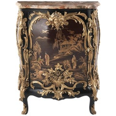 Jumbo Collection Antique Italian Ormolu-Mounted and Lacquered Cabinet