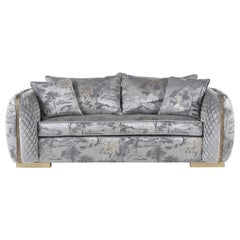 Jumbo Collection Arke 2-Seat Sofa in Wood and Fabric