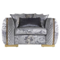Jumbo Collection Arke Armchair in Wood and Fabric