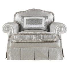 Jumbo Collection Beluga Armchair in Wood and Fabric