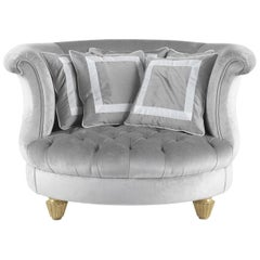 Jumbo Collection Chimera Armchair in Wood and Velvet