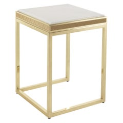 Jumbo Collection Dedalus Side Table in Brass