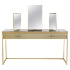 Jumbo Collection Dedalus Toilette in Brass with Wood and Onyx Top