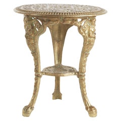 Jumbo Collection Dew Outdoor Side Table in Iron with Gold Finish