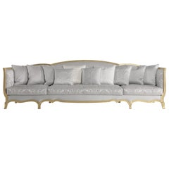 Jumbo Collection Grandcamée 3-Seat Sofa in Wood and Fabric