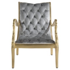 Jumbo Collection Guery Armchair in Wood and Fabric